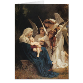 Cartão Adolfo-William Bouguereau. Canção dos anjos