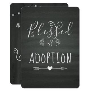 Cartão Adopção do partido de Announcment- da assistência