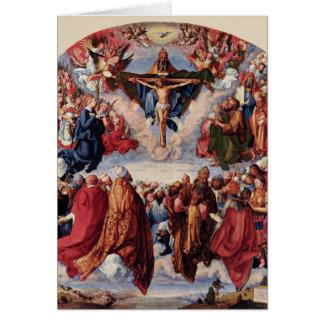 Cartão Adoração da trindade por Albrecht Durer, 1511