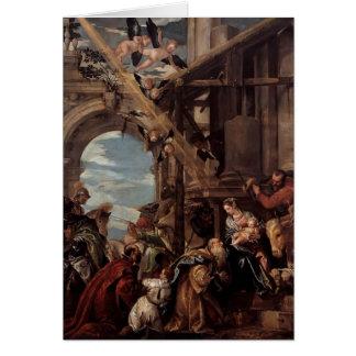 Cartão Adoração de Paolo Veronese- dos Magi