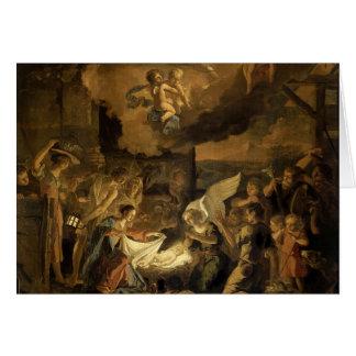 Cartão Adoração do Natal das belas artes dos pastores