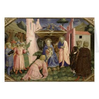 Cartão Adoração dos Magi, do predella