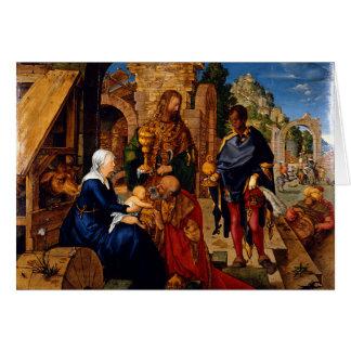 Cartão Adoração dos Magi por Albrecht Dürer, 1504AD
