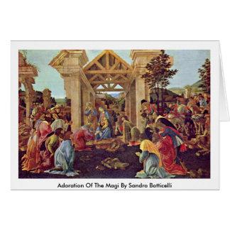 Cartão Adoração dos Magi por Sandro Botticelli