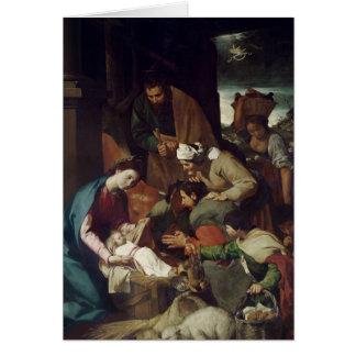 Cartão Adoração dos pastores, 1630