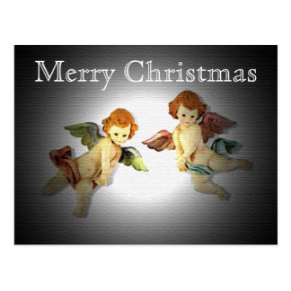 Cartão adorador do Natal dos querubins