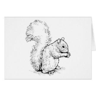 Cartão adorável do esquilo