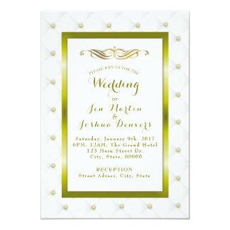 Cartão adornado elegante do convite do casamento