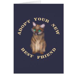 Cartão Adote seu melhor amigo novo