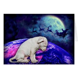 Cartão Adote um abrigo ou salve o cão