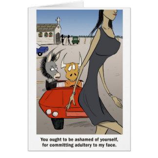 Cartão Adultèrio em seu coração