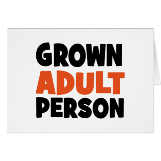 Cartão adulto