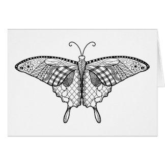Cartão adulto da borboleta da coloração