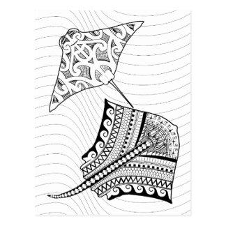 Cartão adulto da coloração de duas arraias-lixas