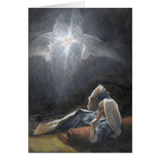 """Cartão Advento do St Joseph de Tissot """"a visão"""""""