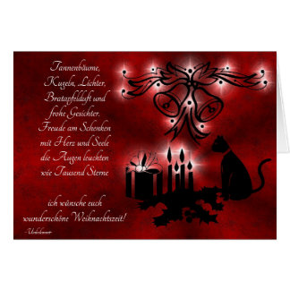 Cartão Advento, natal, poema em alemão
