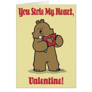 """Cartão Advogado """"cartão roubado do urso dos namorados do"""