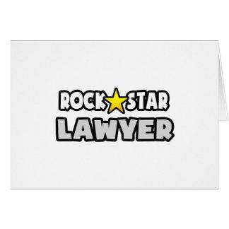Cartão Advogado da estrela do rock