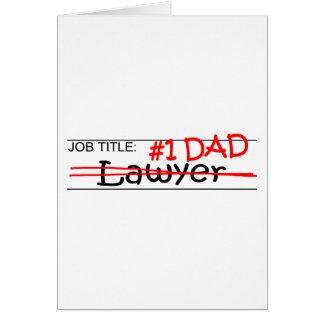 Cartão Advogado do pai do trabalho