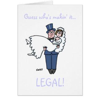 Cartão Advogados engraçados que obtêm a economias casadas