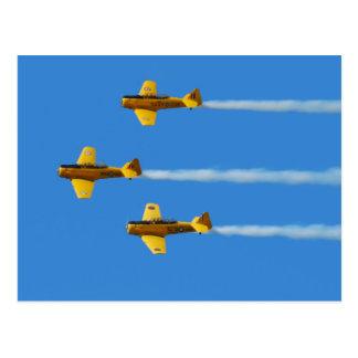 Cartão Aerobatic da equipe de Harvard do canadense