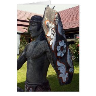 Cartão Aeroporto de Kalimantan Indonésia da estátua do