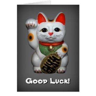 Cartão afortunado da boa sorte do gato