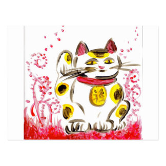 Cartão afortunado do gato
