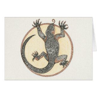 Cartão Afortunado o lagarto de Sedona, arizona