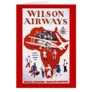 Cartão ~ África das vias aéreas de Wilson