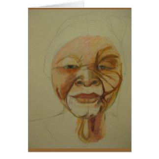 Cartão africano da mulher mais idosa