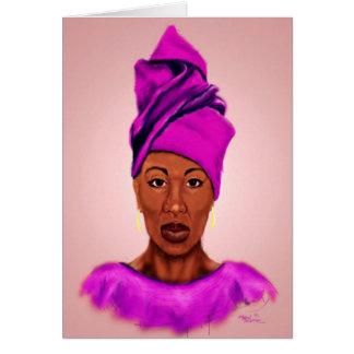 Cartão africano da rainha