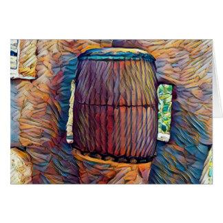 Cartão africano do cilindro