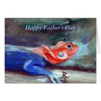 Cartão africano do dia dos pais do lagarto do