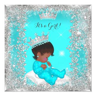 Cartão Afro-americano da prata da cerceta da princesa chá