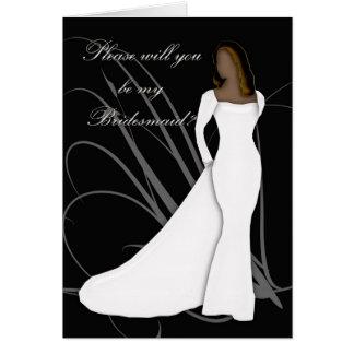 Cartão Afro-americano você será meu preto a da dama de