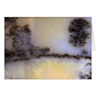 Cartão Ágata de musgo australiana