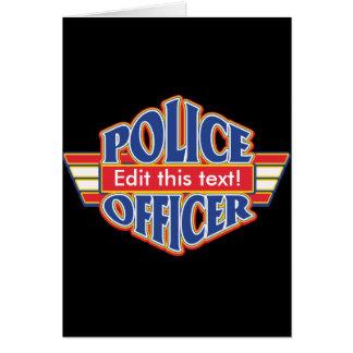 Cartão Agente da polícia feito sob encomenda