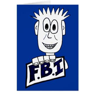 Cartão Agente do FBI dos desenhos animados