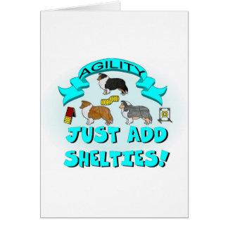 Cartão Agilidade - apenas adicione Shelties