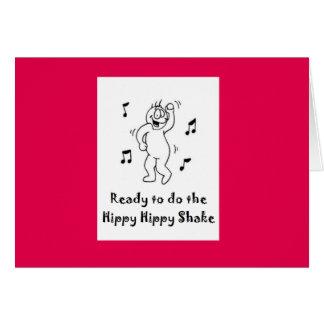 Cartão Agitação do hippy do hippy