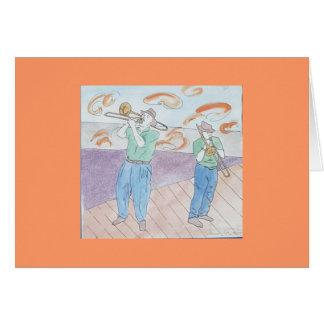 Cartão agitação do trombone