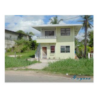 Cartão agradável de Guyana do viagem da casa