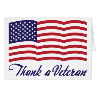 Cartão Agradeça a um veterano