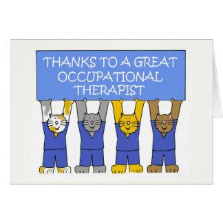 Cartão Agradecimentos do terapeuta ocupacional