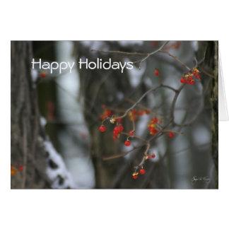 Cartão agridoce do feriado de inverno