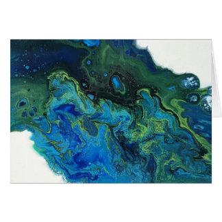 Cartão Água abstrata
