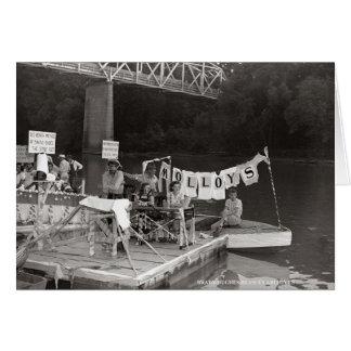 Cartão Água Carnival-1948 McMinnville Tennessee