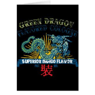 Cartão Água de Colônia do dragão verde