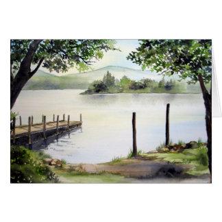 Cartão Água de Derwent, distrito do lago, Inglaterra